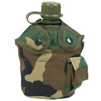 "U.S Military ""Alice"" 1qt Canteen Cover Woodland Camo"