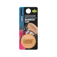 360 Degrees Bamboo Replacement Cap to suit Flask Style Bottle