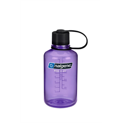 Nalgene 500mL Narrow Mouth Water Bottle Purple with Black