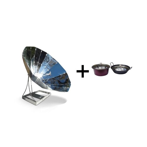 Sunplicity Parabolic Solar Cooker Pot Kit Package